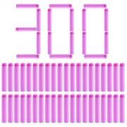 Refill Darts, Lingxuinfo 300-Dart Refill Bullets Foam Bullets for nerf rebelle series blaster and nerf n-strike elite series (Pink)