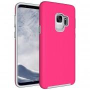 Para Samsung Galaxy S9 Antideslizante Textura De Funda Protectora TPU + PC De La Armadura De La Contraportada Shell, Pequeña Cantidad Recomendada Antes De Lanzar El Samsung Galaxy S9 (magenta)