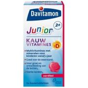 Davitamon Junior 2+ Aardbei Kauwtabletten 60st