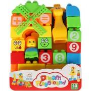 Planet of Toys Toddler 40 Pcs School Bag Building Blocks Set For Kids Children
