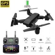 HAWK LI 5G RC Drone con 1080P 5MP Cámara Mini Quadrocopter Plegable 4CH 6-Axis WiFi FPV Drone GPS Incorporado Smart Auto Return Home, Sígueme
