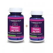 Detox Activ, 60+10 cps Gratis, Herbagetica
