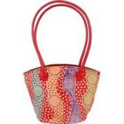 ZINT Genuine Leather Shoulder Bag Handbag Tote Shantiniketan Boho Ethnic Polka Dot Design Multicolor Shoulder Bag