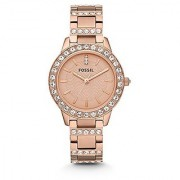 Fossil Jesse Analog Rose Gold Dial Watch - ES3020