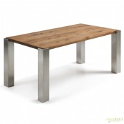 Masa dining cu picioare din otel si blat lemn de stejar ULRIC 180x90cm C475M40 JG