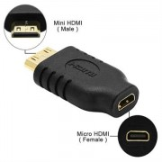 Female Micro HDMI to Mini HDMI Male Adapter