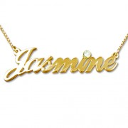 Personalized Men's Jewelry 14K Gold & Diamond Name Necklace 101-01-217-06