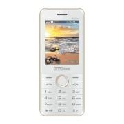 Maxcom MM136 mobiltelefon, dual sim-es kártyafüggetlen, bluetooth-os, fm rádiós fehér-arany