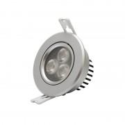 Spot LED PNI D-Light 3002N argintiu de interior 3x2W orientabil 45 4000K alb neutru PNI-D3002N