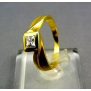 Zlatý prsteň čarovný žlté zlato kamienky zirkónu VP56401Z