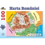 Harta Romaniei-Puzzle 100 Piese