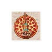 Merkloos Pizza picknickkleed handdoek 150 cm