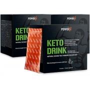 PowGen Keto Drink Dreierpackung Kokos MCT Pulver mit 75% des MCT Anteils 30-tägiges Programm PowGen