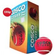 6 PCS COSCO CRICKET TENNIS BALLS HEAVY WEIGHT CRICKET RED TENNIS BALLS TUFF