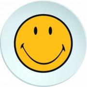 Farfurioara pentru cina Smiley Galben/Alb, Ø25 cm