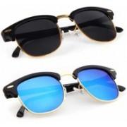 John Dior Clubmaster, Clubmaster Sunglasses(Black, Blue)