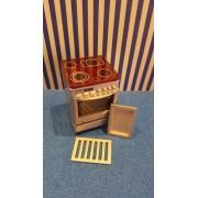 Aragaz cu cuptor din lemn - miniaturi papusi