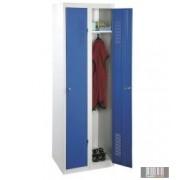 Összeszerelhető öltözőszekrény-szürke/ kék 1800x600x500mm