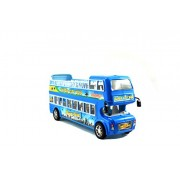 Breno Double Decker Bus Toys for Kids, Bus Toy, Bus for Kids, Friction Toy, City Bus for Kids Blue