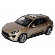 Porsche Speelgoed Porsche Macan Turbo beige autootje 12 cm Beige