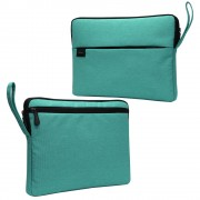 Splash-proof Nylon Fabric Soft Plush Lining Sleeve Bag Case for 15.6-inch Laptop - Green