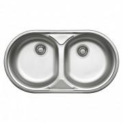 Duet 2 medencés mosogató csepegtető nélkül,dekor