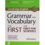 Grammar and Vocabulary for First and First for Schools Book with Answers and Audio, Paperback/Barbara Thomas