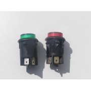 Red and green buttons for Bosch steam generator iron.