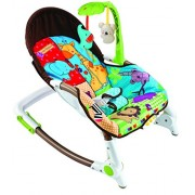 Baybee Newborn-to-Toddler Baby Rocker Cum Baby Bouncer with Soothing Vibration & Musical Toy (Blue & Red)