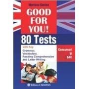 Good for you 80 Tests. Concursuri si BAC - Mariana Simion