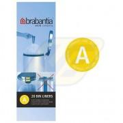 Brabantia szemeteszsák 3l 20 db, A