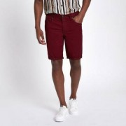 River Island Bordeauxrode skinny-fit short