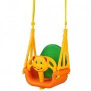 Leagan convertibil 3 în 1 pentru copii 6 luni - 7 ani - Portocaliu cu Verde