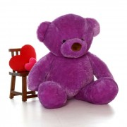 6 Feet Fat and Huge Purple Teddy Bear