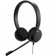 Слушалки Jabra Evolve 20 MS Duo, микрофон, контролер за повиквания, USB/3.5mm жак, черни
