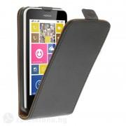 Кожен калъф flip за Nokia Lumia 630 - черен