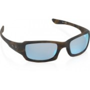 Oakley FIVES SQUARED Wrap-around Sunglass(Blue)