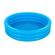 Alberca Inflable de 3 Aros Crystal Blue Mediana Azul Intex