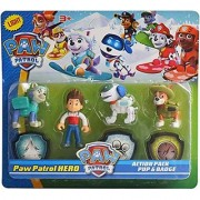 Jojoss Paw Patrol Action Pup Badge Ryder Tracker Robot Dog Everest Fun Loving Toy for Kids