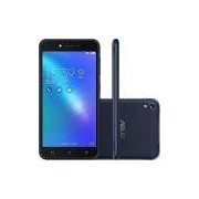 "Smartphone Asus Zenfone Live 16Gb Preto Dual Chip Android 6.0 Tela 5"" Snapdragon 4G Wi-Fi Câmera 13M"