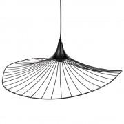 Maisons du Monde Lámpara de techo con sombrilla de metal negro