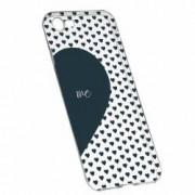 Husa Silicon Transparent Slim Love Me + You 100 Apple iPhone 7 8