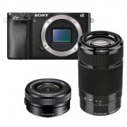 Sony A6000 zwart + 16-50mm + 55-210mm (ILCE6000YB.CEC)