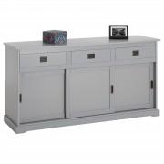 IDIMEX Anrichte Sideboard SAVONA 3 Türen grau