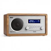 Auna HARMONICA DAB + / FM - радио двойна аларма AUX LCD дървена кутия орех (TC13-Harmonica WN)