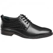 Am shoe Zwarte leren geklede schoen vetersluiting AM shoe maat 41