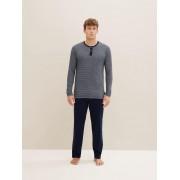 TOM TAILOR gestreepte Pyjama Top, Heren, blue-dark-horizontal strip, 50/M
