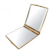 Oglinda Cosmetica Camry pentru Poseta cu Iluminare LED, Marire 3x, Ornament Swarovski, Culoare Auriu