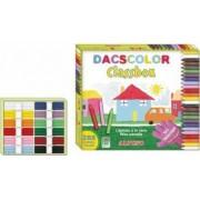Creioane cerate ALPINO DacsColor semi-soft cutie carton 24 x 12 culori-cutie