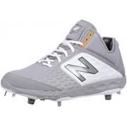 New Balance Men's 3000v4 Baseball Shoe, Grey/White, 5.5 2E US